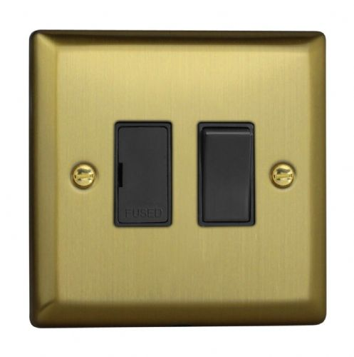 Varilight XY6B.BB Urban Brushed Brass 1 Gang 13A Switched Fused Spur